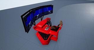 3d六自由度虚拟驾驶器模型