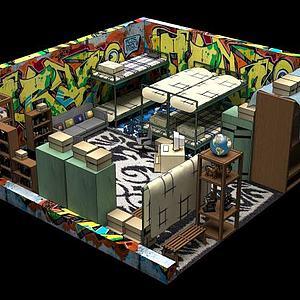 小屋Room模型