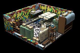 3d小屋Room模型