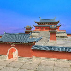 3d中國傳統<font class='myIsRed'>古建筑</font>古建大殿模型