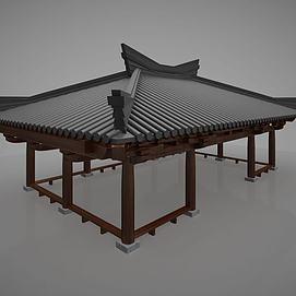 3d古建凉亭模型