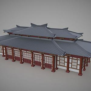 3d中國傳統<font class='myIsRed'>古建筑</font>住宅模型