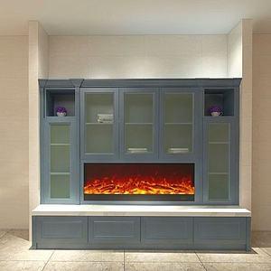 壁炉柜3d模型