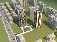 欧式高层住宅3d模型