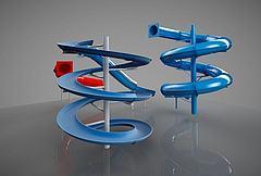幼儿游乐设施画画梯模型3d模型