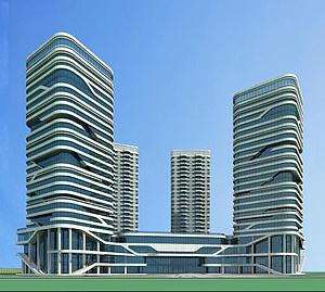 3d高层<font class='myIsRed'>大楼</font>模型