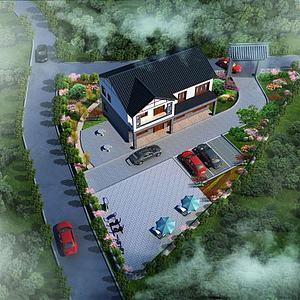 园林建筑景观模型