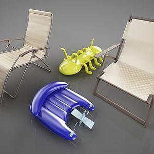 戶外沙灘椅模型3d模型