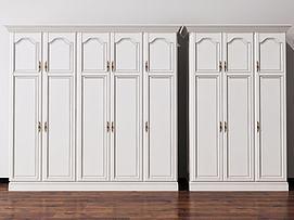 欧式简欧衣柜装饰柜模型