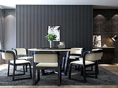 现代金属餐桌椅组合模型3d模型