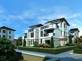 别墅建筑外观模型
