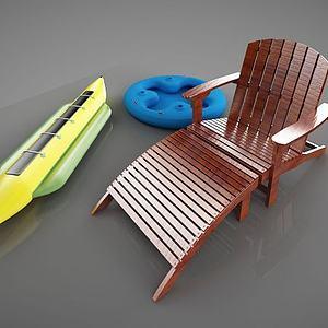 戶外沙灘椅子模型3d模型