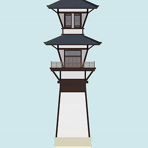 燈塔3d模型