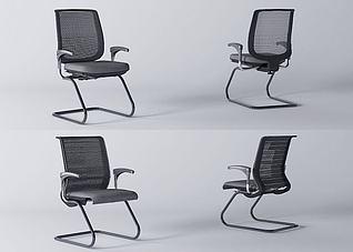 现代简约办公椅3d模型