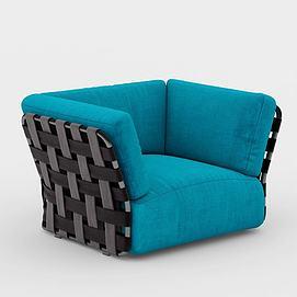 后现代单人沙发模型