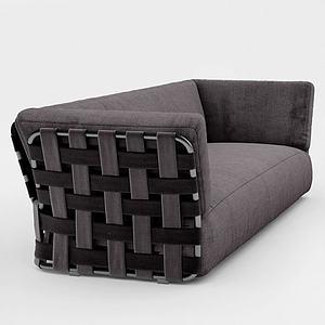 后现代双人沙发3d模型
