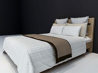 北欧现代床3d模型