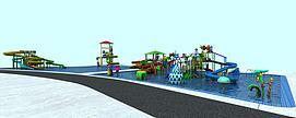 大型滑梯水上乐园设施模型