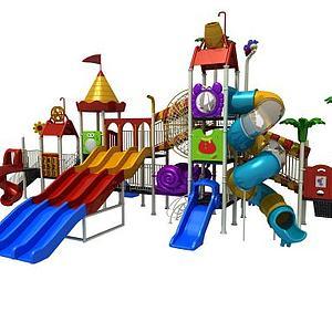 儿童游乐设施滑梯模型