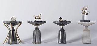 现代金属茶几装饰品3d模型