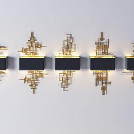 后现代金属壁灯组合模型