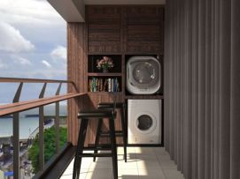 阳台洗衣机柜模型