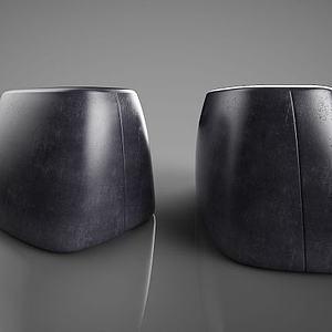 现代皮凳子模型
