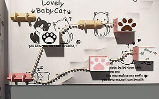 猫爬架3d模型