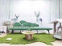 自然风绿色休闲沙发组合3d模型