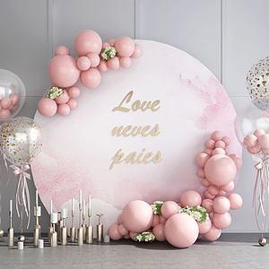 婚慶婚禮氣球合影區背景墻模型3d模型