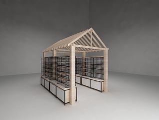 3d房型置物架模型