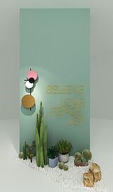 装饰墙模型