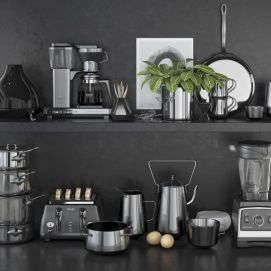 现代咖啡机搅拌机榨汁机模型