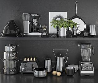 现代咖啡机搅拌机榨汁机3d模型