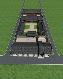 3d四合院模型