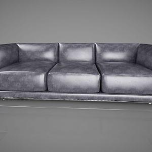 现代北欧皮革沙发模型