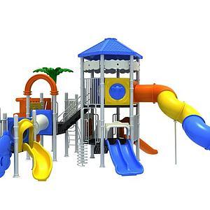 大型滑梯游乐设施模型