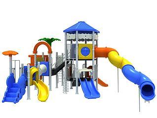 大型滑梯游乐设施3d模型