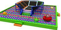 蹦床球池3d模型