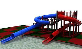 蹦床球池模型