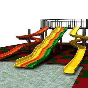 滑梯游乐设施模型