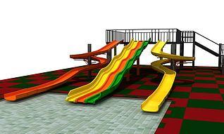 滑梯游乐设施3d模型