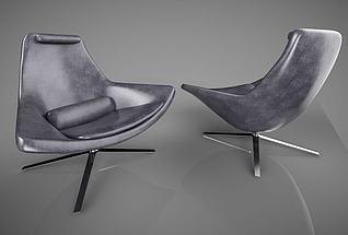 3d现代简约休闲椅模型