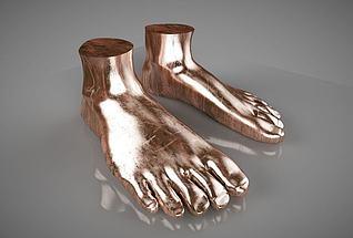 现代简约人体艺术品3d模型