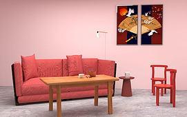 新年沙发模型