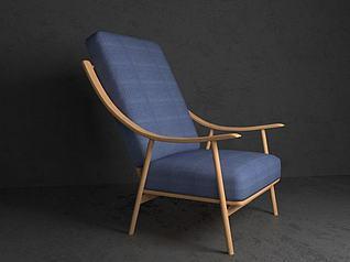 3d躺椅模型