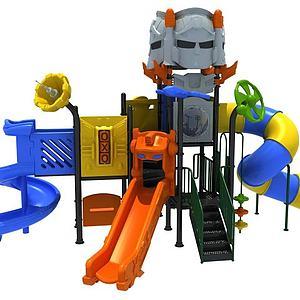 机器人滑梯儿童游乐设施模型