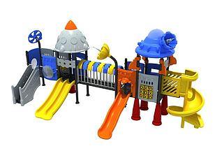 儿童滑梯儿童游乐设施3d模型