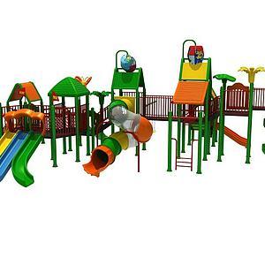大型滑梯儿童游乐设施模型