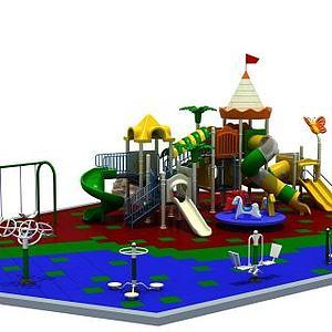 小区游乐设施滑梯健身器材模型